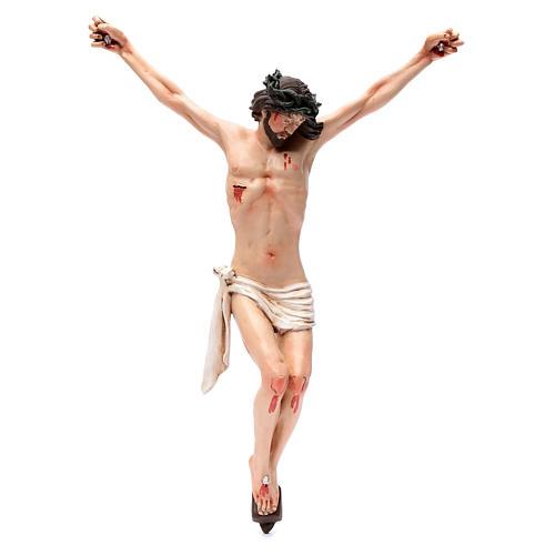 Corps du Christ terre cuite yeux cristal h 45cm style Napolitain 1