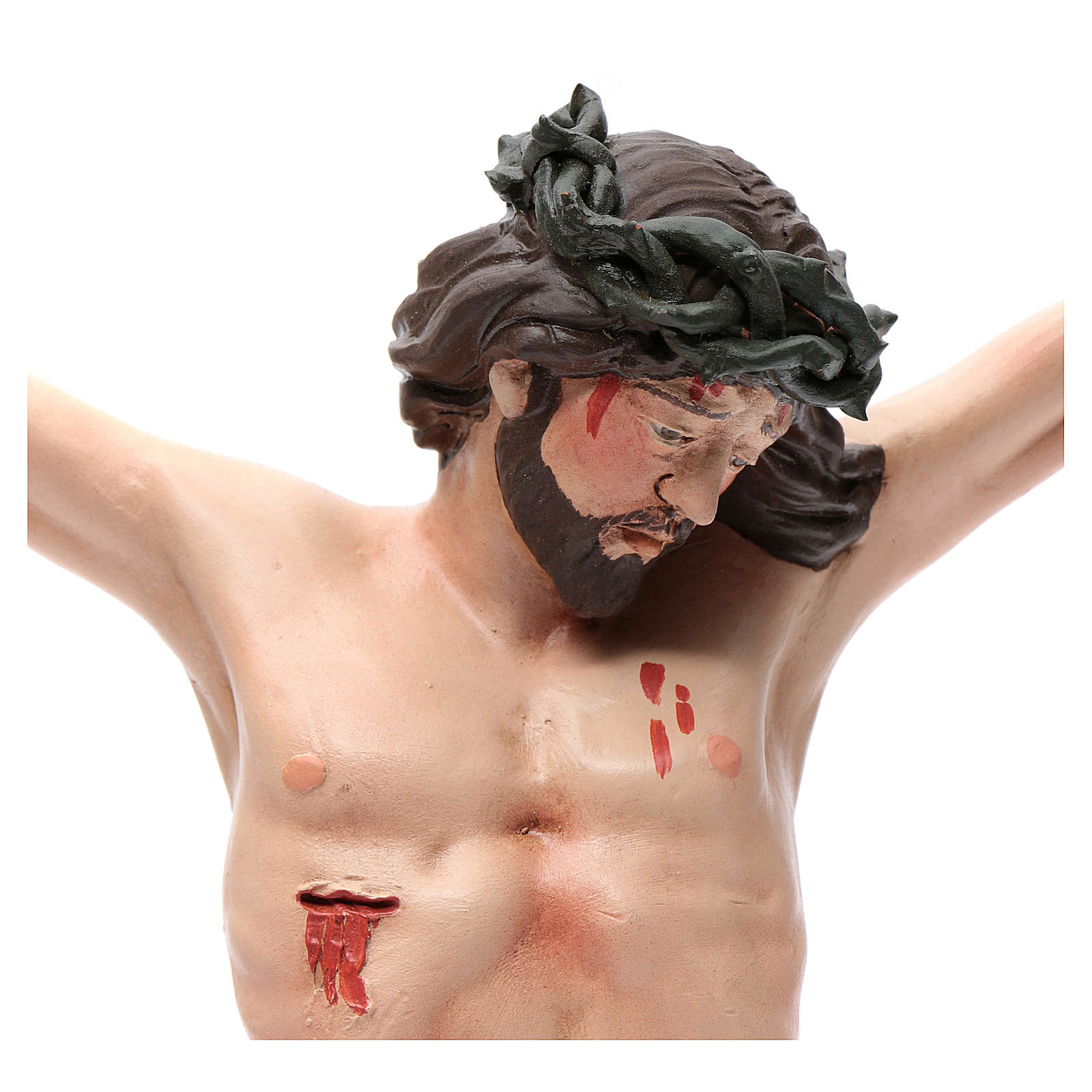 Body of Christ, Neapolitan in terracotta, glass eyes H45cm 4