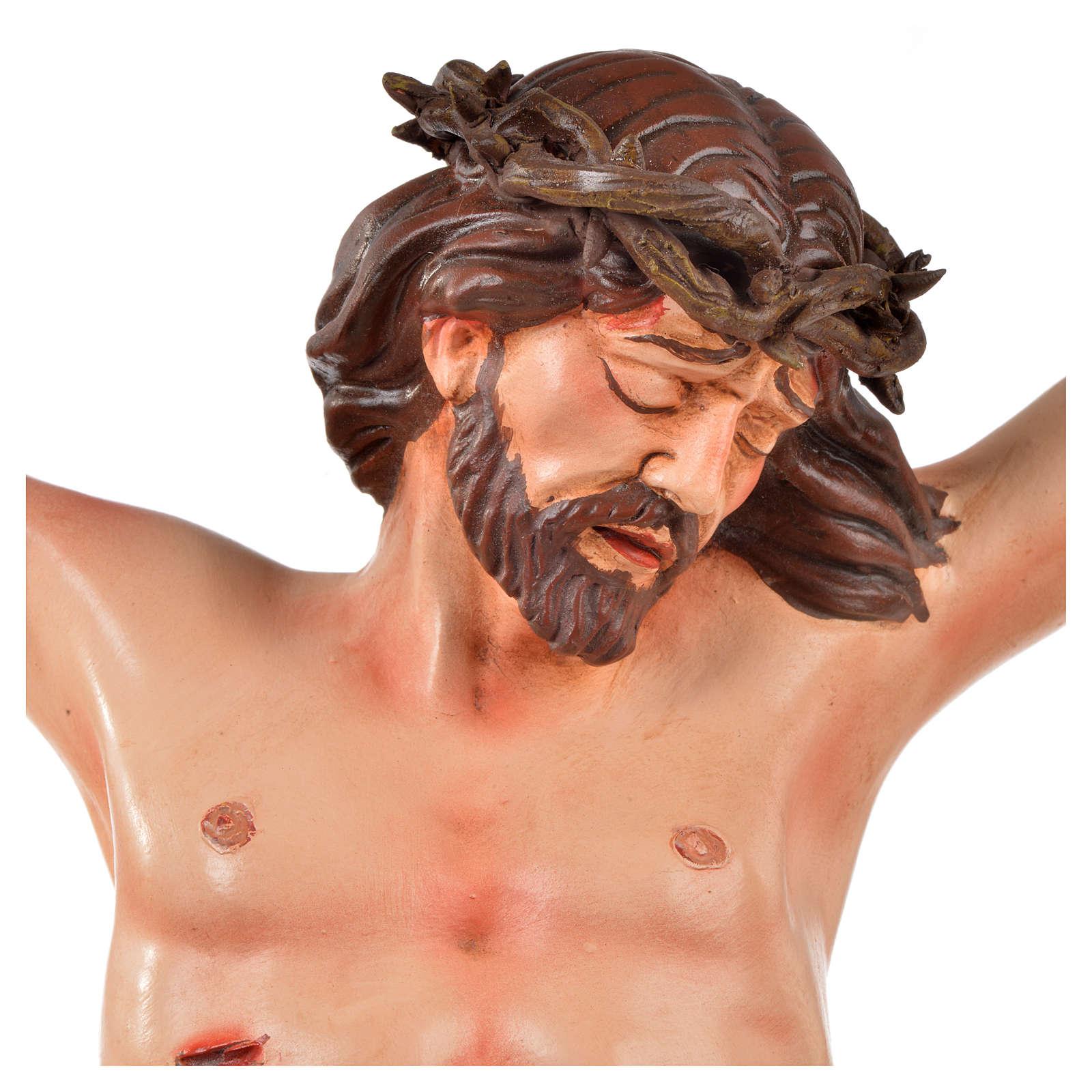 Body of Christ, Neapolitan in terracotta H45cm 4