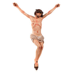 Crucifixes in ceramic, porcelain and clay: Body of Christ, Neapolitan in terracotta H45cm