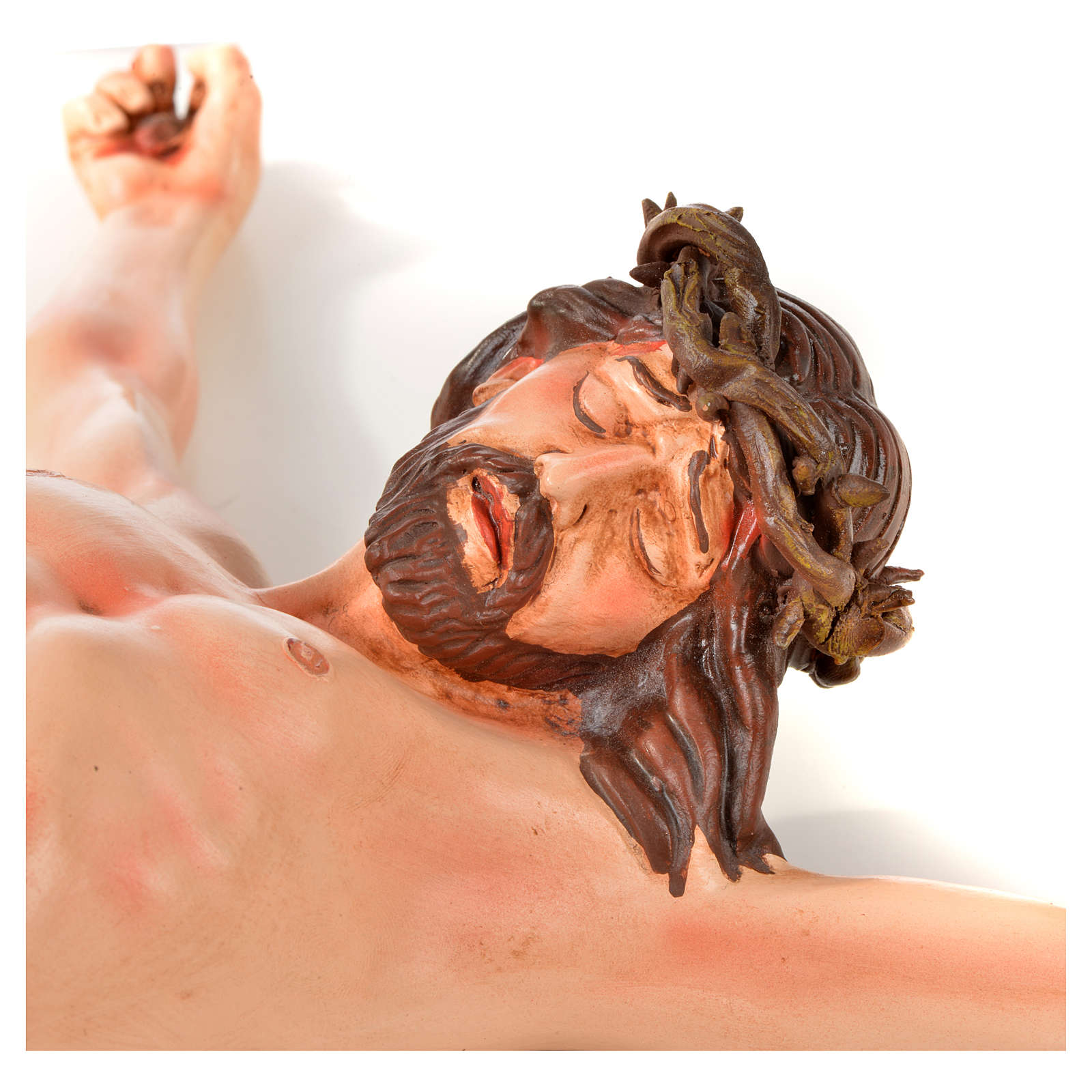 Body of Christ, Neapolitan in terracotta H45cm 4