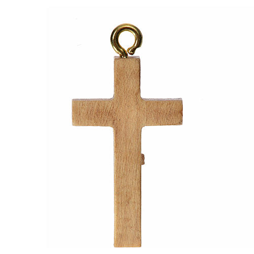 Rosary crucifix in patinated Valgardena wood 2