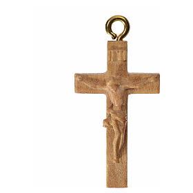 Crucijifo para rosario de madera patinada de la Val Gardena s3