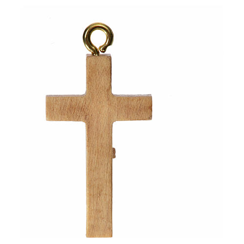 Crucijifo para rosario de madera patinada de la Val Gardena 4