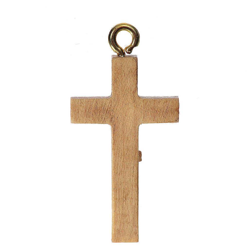 Crocefisso per rosario legno patinato Valgardena 4