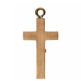 Crocefisso per rosario legno patinato Valgardena s2