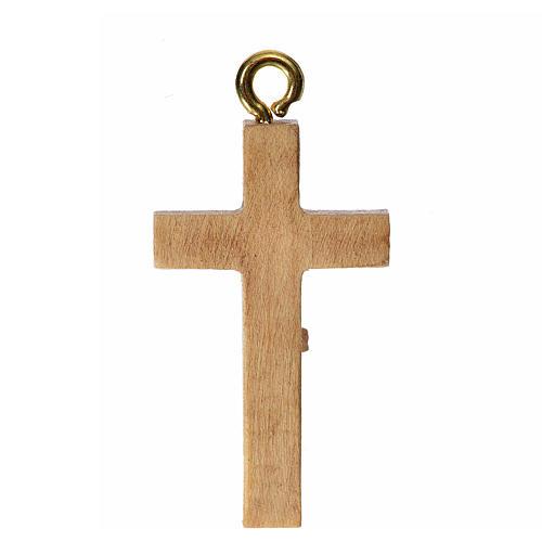 Crocefisso per rosario legno patinato Valgardena 2