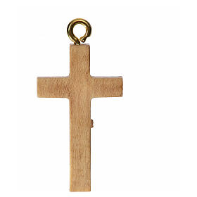 Rosary crucifix in patinated Valgardena wood s4