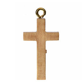 Rosary crucifix in patinated Valgardena wood s2