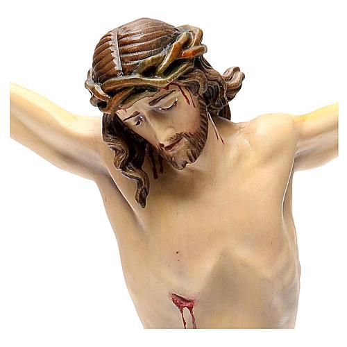 Corps Christ modèle Corpus bois coloré Val Gardena 16