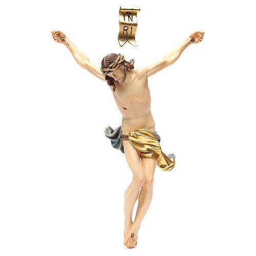 Corps Christ modèle Corpus bois coloré Val Gardena 1
