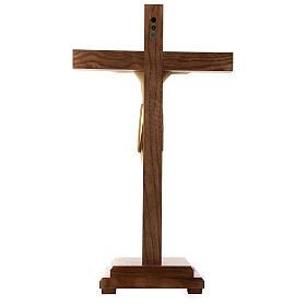 Crocefisso di Altenstadt con base 52 cm legno Valgardena s5