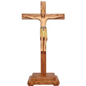 Altenstadt crucifix with base, 52cm in Valgardena wood s1