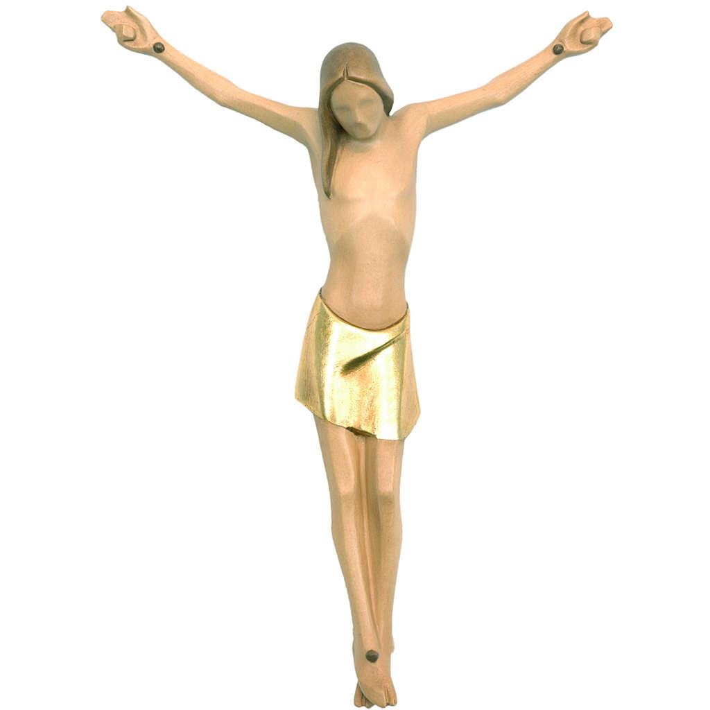 Ciało Chrystusa stylizowane drewno Valgardena malowane 4