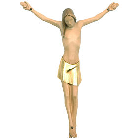 Stylised body of Christ in coloured Valgardena wood s1