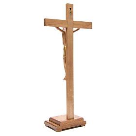 Crocefisso stilizzato con base legno Valgardena s3