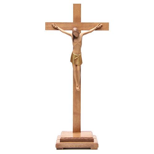 Crocefisso stilizzato con base legno Valgardena 1