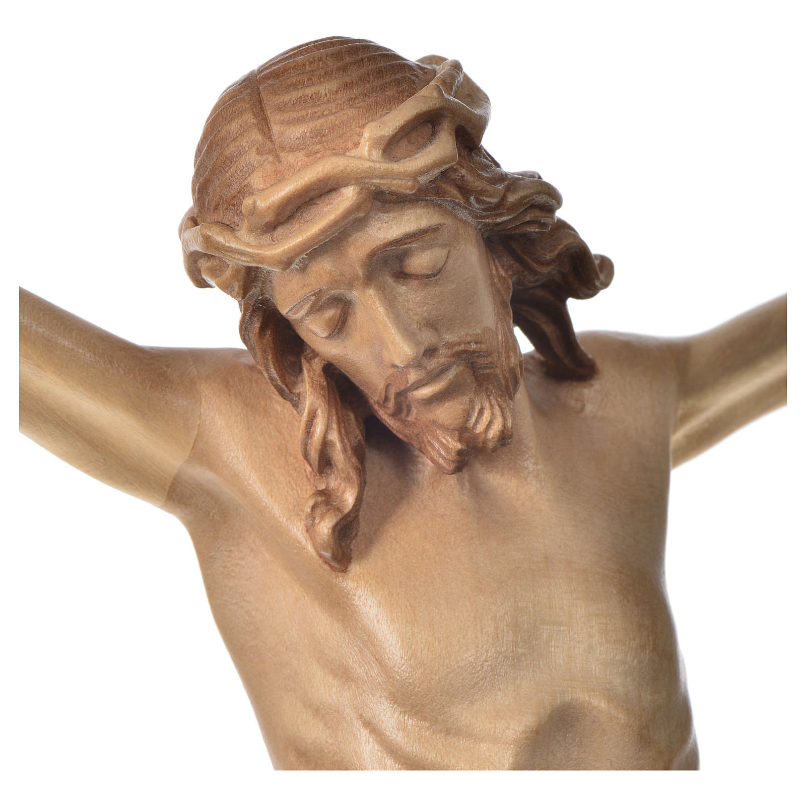 Body of Christ in Valgardena wood, multi-patinated model 4