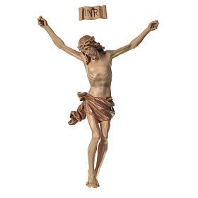 Crucifijos y cruces de madera: Cuerpo de Cristo modelo Corpus madera Valgardena patinado
