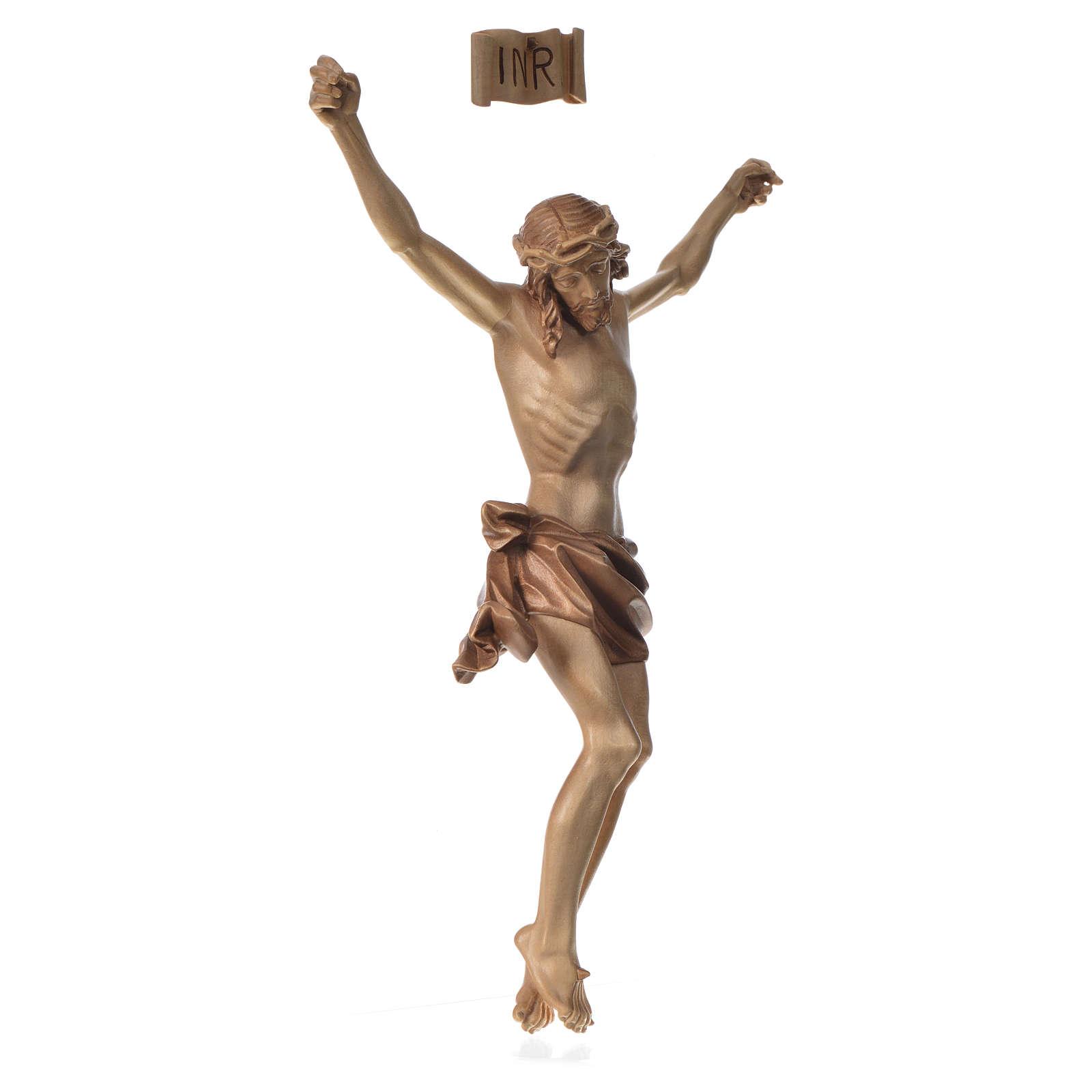 Body of Christ in Valgardena wood, multi-patinated model 4