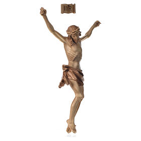 Body of Christ in Valgardena wood, multi-patinated model s2