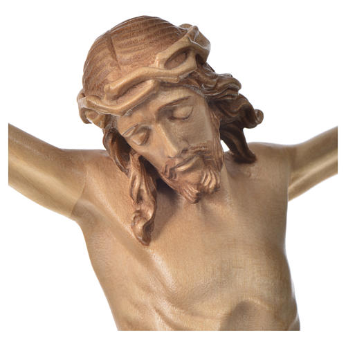 Body of Christ in Valgardena wood, multi-patinated model 3