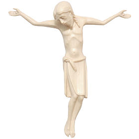 Body of Christ in Romanesque style, Valgardena wood, natural wax s1