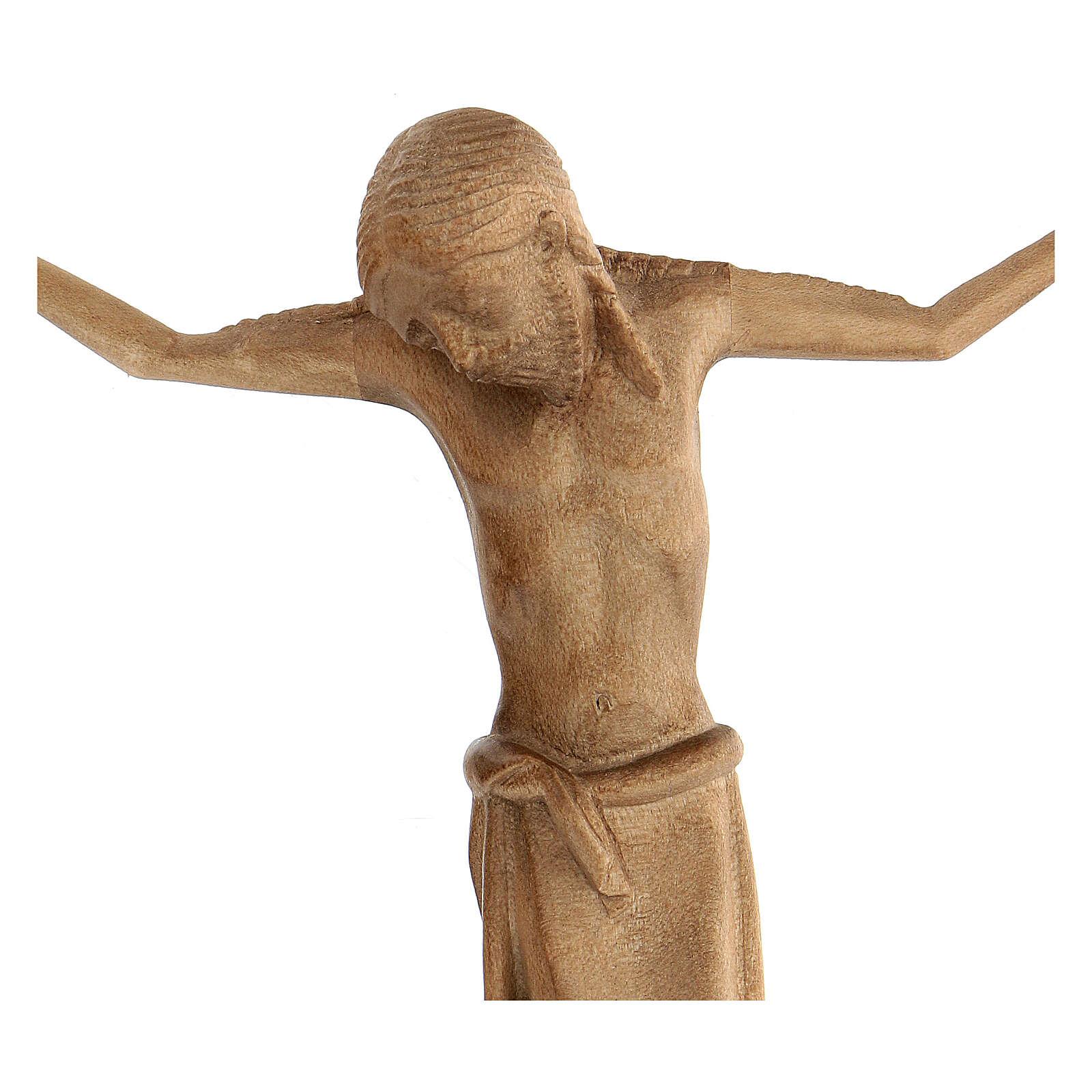 Corpo di Cristo stile romanico legno Valgardena patinato 4