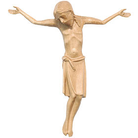 Body of Christ in Romanesque style, Valgardena wood, patinated s1