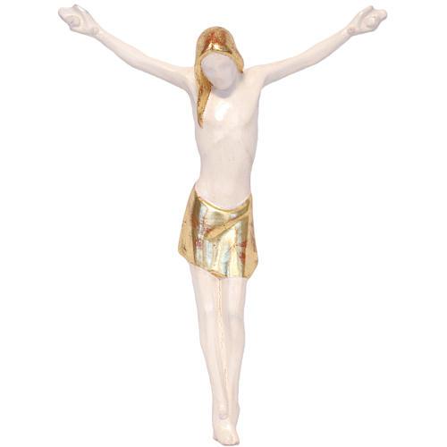 Corpo di Cristo stilizzato legno Valgardena Antico Gold 1