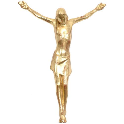 Corpo di Cristo stilizzato legno Valgardena Gold 1