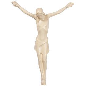 Cuerpo de Cristo estilizado de madera Valgardena, natural encera s1