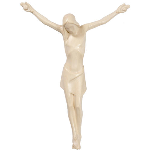 Cuerpo de Cristo estilizado de madera Valgardena, natural encera 1