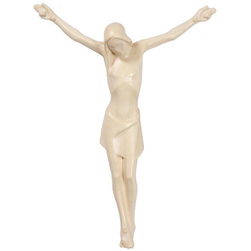 Corpo di Cristo stilizzato legno Valgardena naturale cerato 1