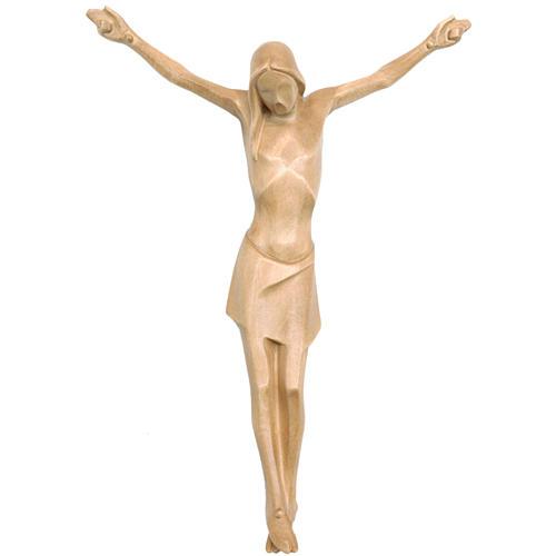 Corpo di Cristo stilizzato legno Valgardena patinato 1