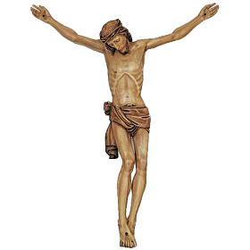 Body of Christ in painted wood 155-140cm s1