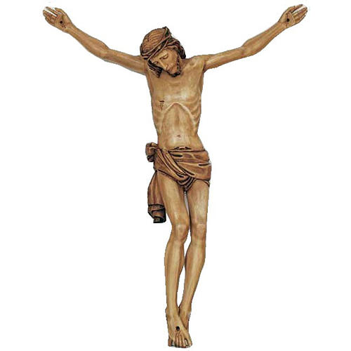 Body of Christ in painted wood 155-140cm 1