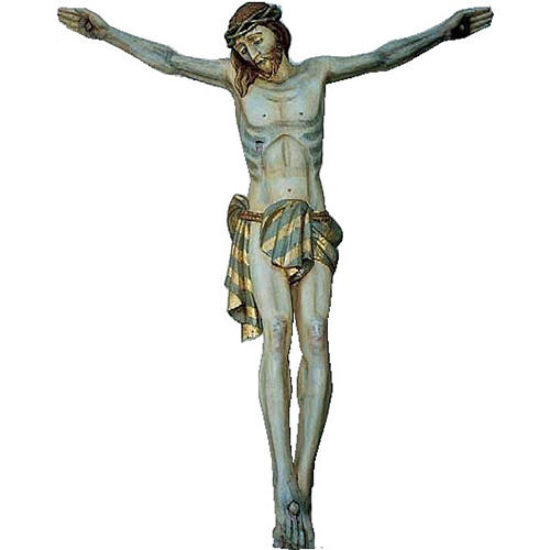 Body of Christ in painted wood 120cm 1