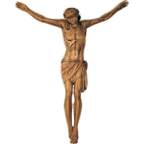 Body of Christ in painted wood 100-90cm 1