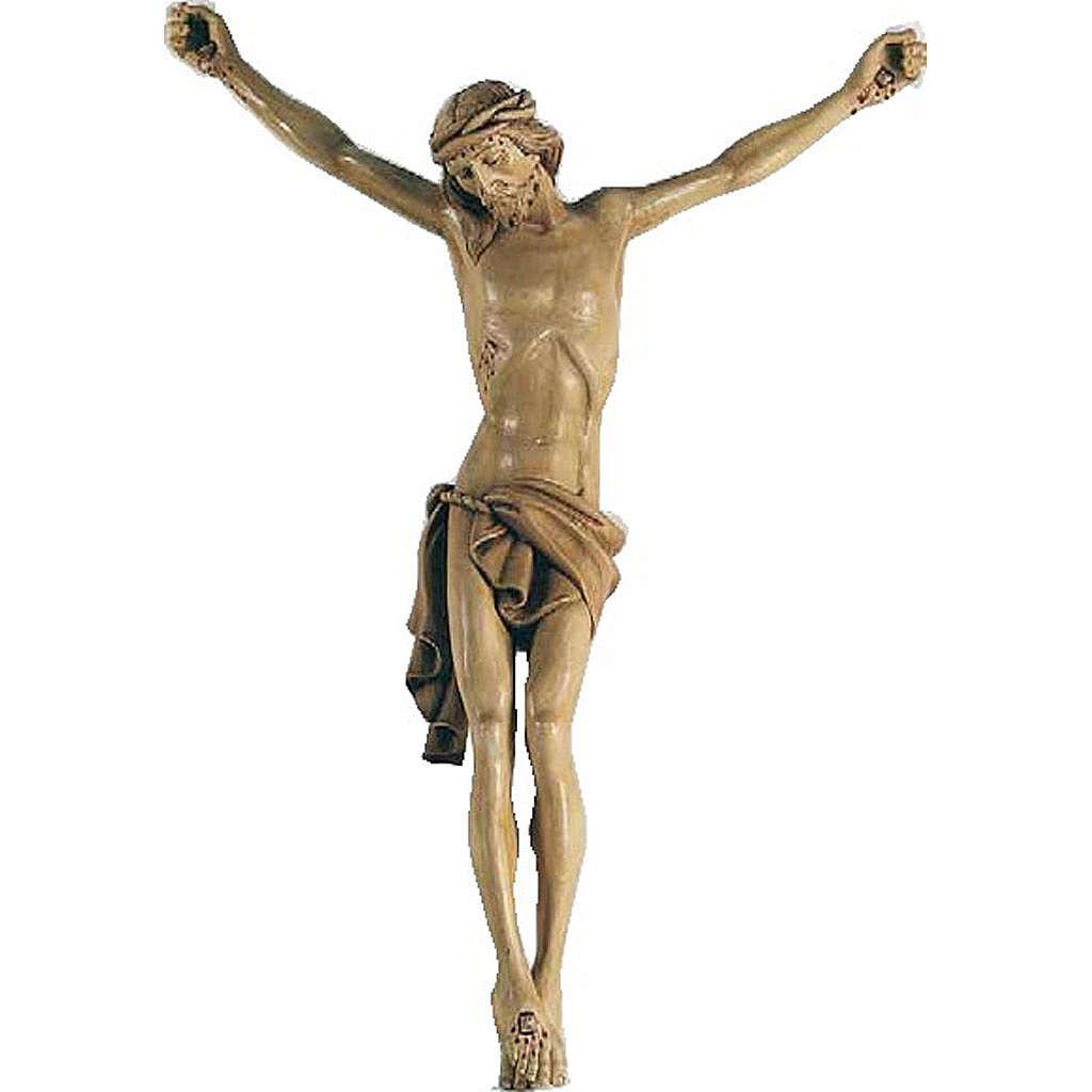 Corps du Christ en bois peint 70cm 4