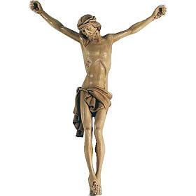 Corps du Christ en bois peint 70cm s1