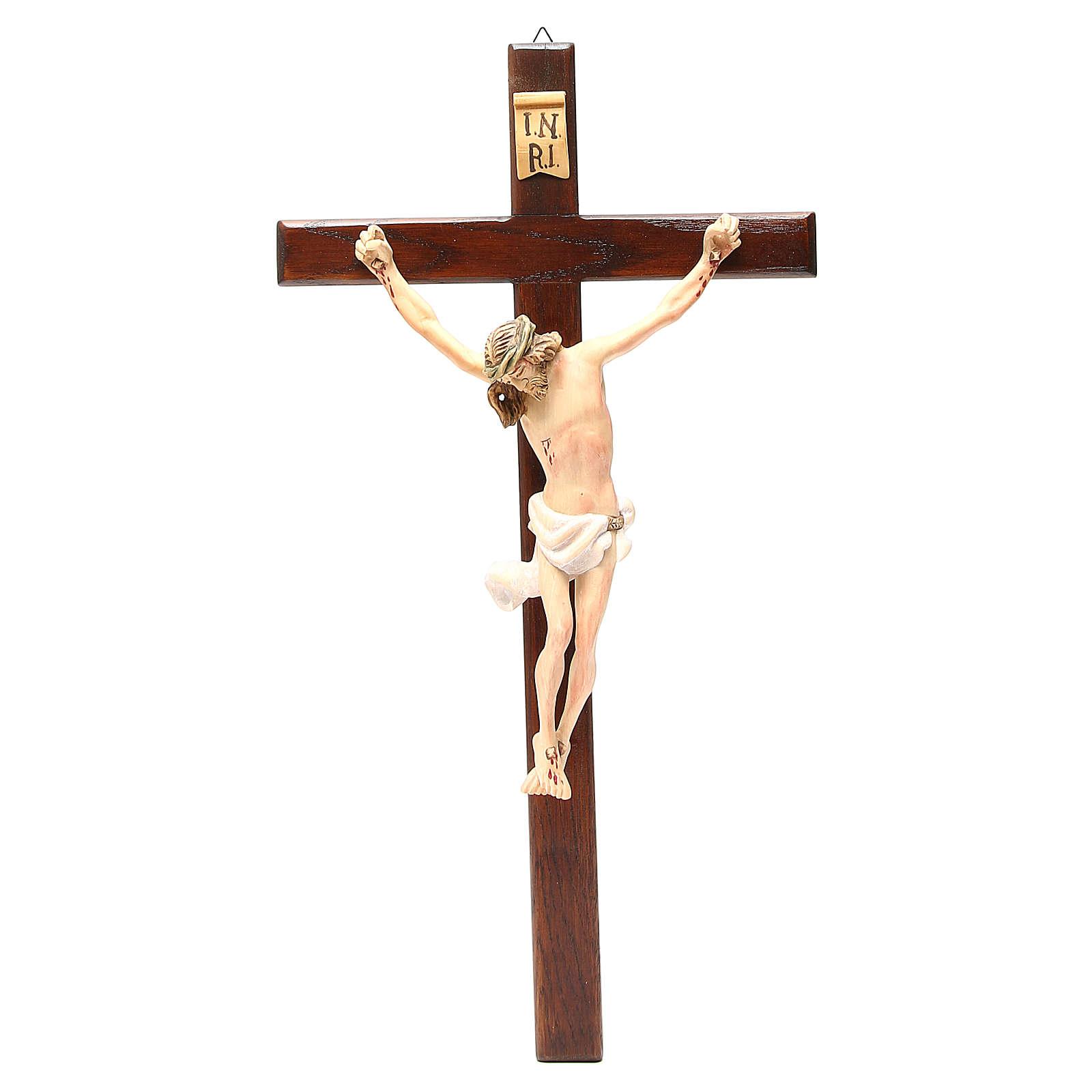 Crocifisso in legno dipinto varie misure 4