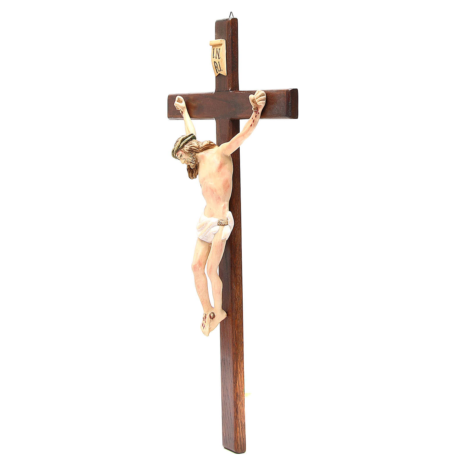 Crucifix in painted wood, different sizes available 4