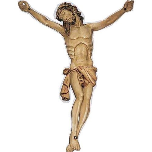 Body of Christ in painted wood 40cm 1