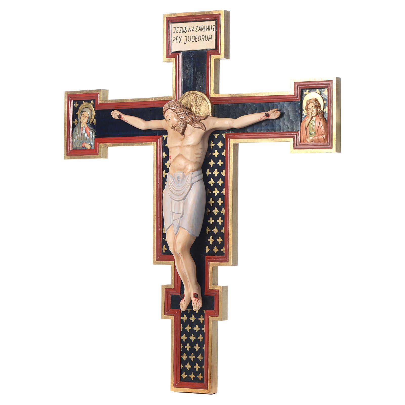Crocifisso Cimabue in legno dipinto 4