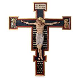 Crocifisso Cimabue in legno dipinto s1