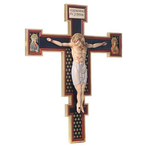 Crocifisso Cimabue in legno dipinto 2