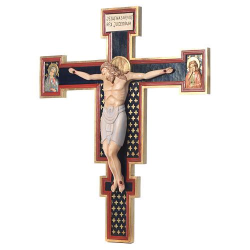 Crocifisso Cimabue in legno dipinto 3