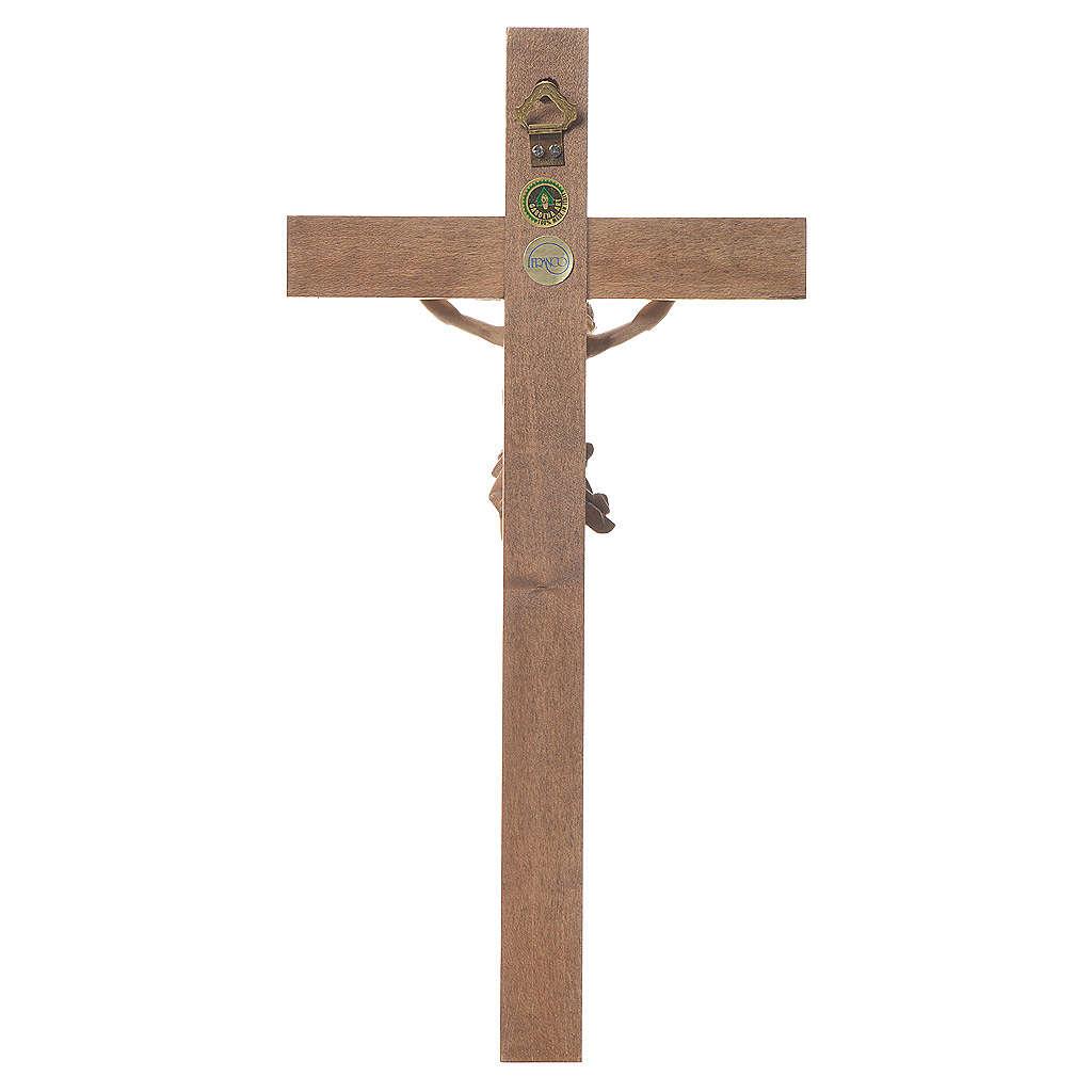 Crocefisso mod. Corpus croce dritta legno Valgardena multipatina 4