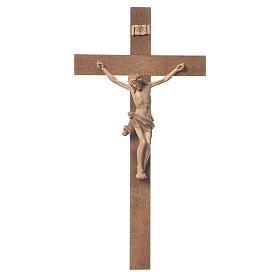 Crocefisso mod. Corpus croce dritta legno Valgardena multipatina s1